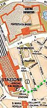 La Fortezza da Basso nei pressi della Stazione Ferroviaria di Santa Maria Novella