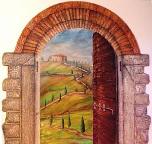 Trompe l'oeil eseguito dall'artista Anna Maria Guarnieri