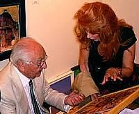 Anna Maria Guarnieri con il critico d'arte Dino Carlesi
