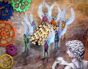 Le ali della pace solidale - Opera di Anna Maria Guarnieri