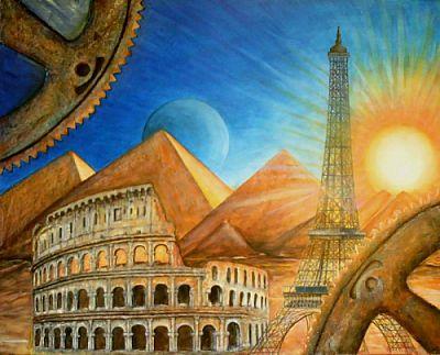 Il ciclo delle civiltà - Opera dell'artista Anna Maria Guarnieri