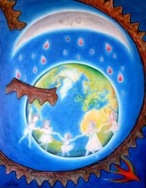La luna di Beslan - Opera dell'artista Anna Maria Guarnieri