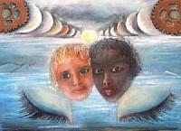 Sognando altri mondi - Opera di Anna Maria Guarnieri